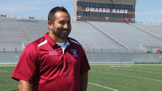Burned Owasso Football 'Family Member' Honored At Homecoming