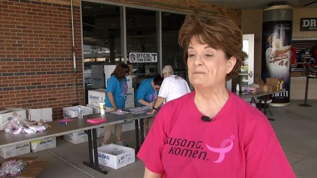 Volunteers Turn ONEOK Field Pink For Tulsa's Race For The Cure