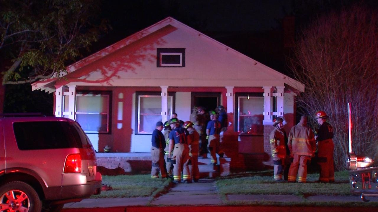 Bathroom Fire Damages Tulsa Home