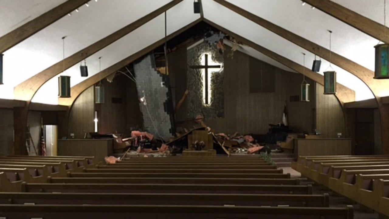 West Tulsa Church Damaged By Storm