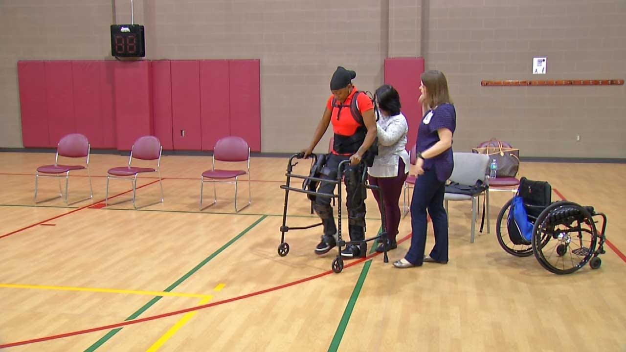 New Technology Helps Tulsa Woman Stand, Walk