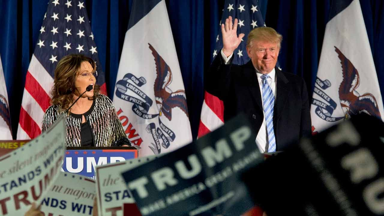 Trump, Palin Campaign At Tulsa Rally