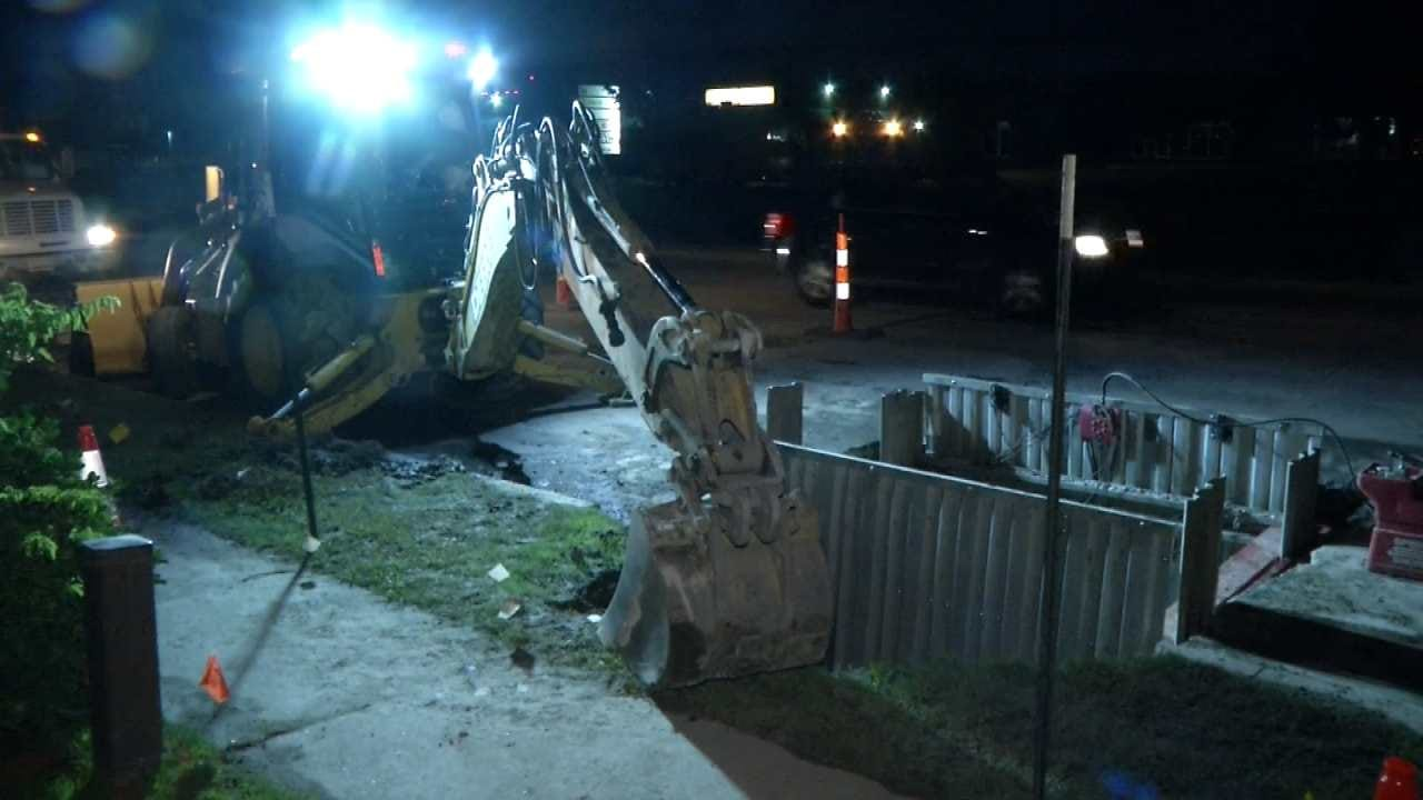 Tulsa Water Line Repair Slows Traffic