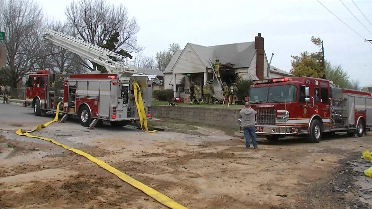 Tulsa Firefighters Knock Down Flames At Midtown Home