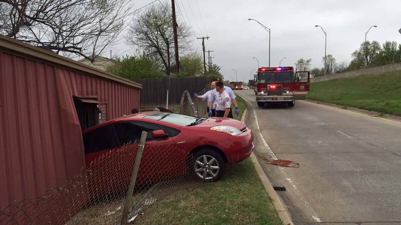 Prius Crashes Through Tulsa Funeral Home