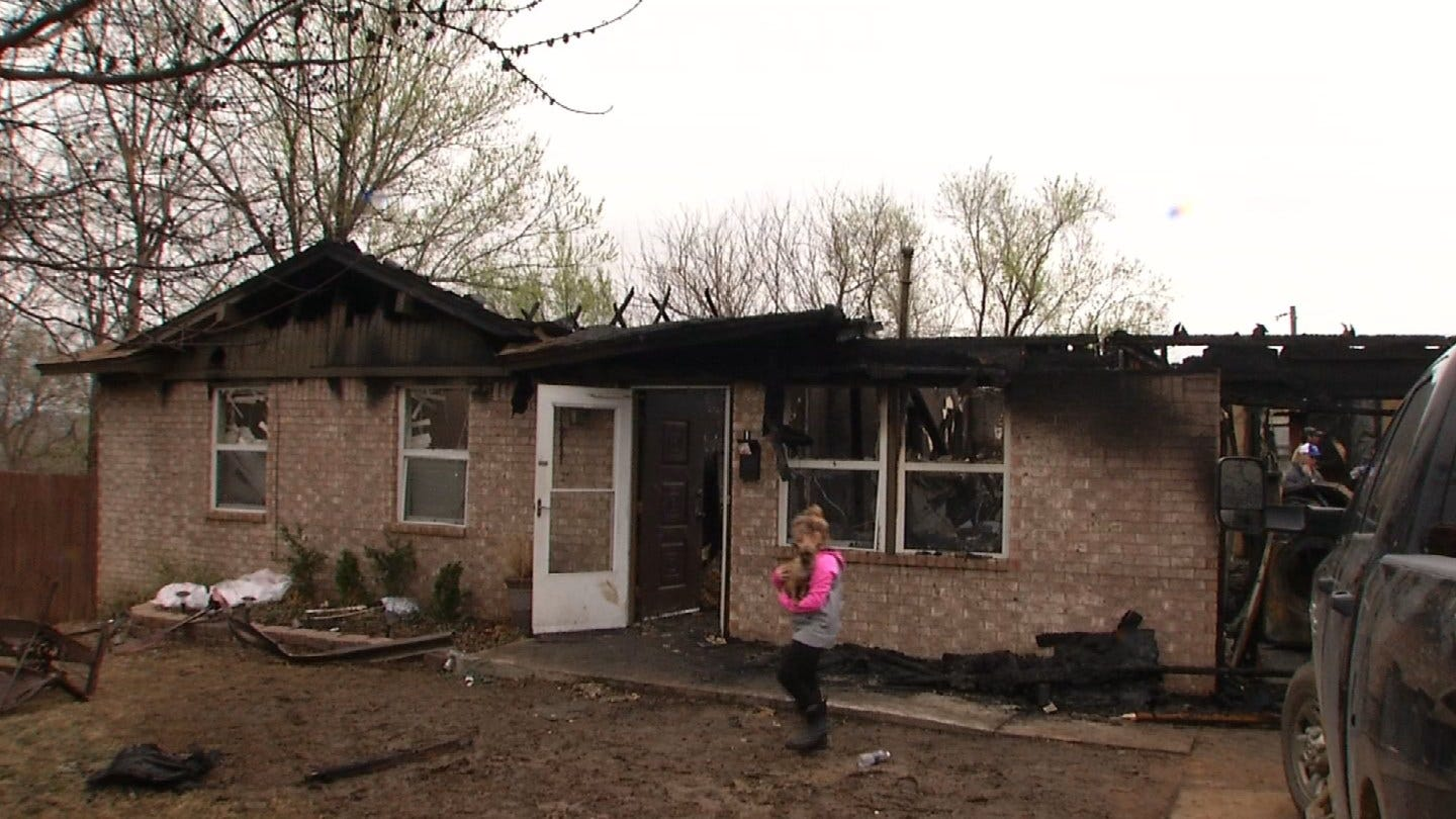 Drumright Firefighter's Home Reduced To Ash