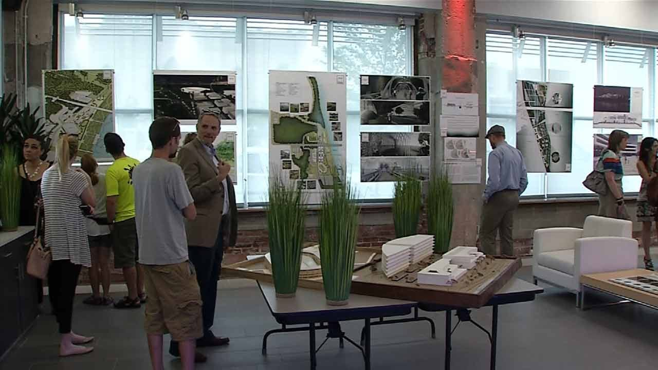 OU-Tulsa Students Show Off Bike-Friendly Designs For Arkansas River