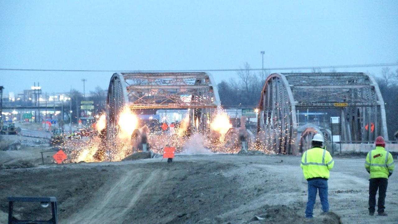 Implosion To Remove Remaining Truss Bridge Over To Bird Creek