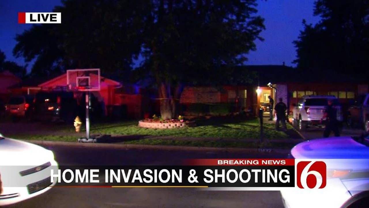 Man Shot, Woman Tied Up During Tulsa Home Invasion