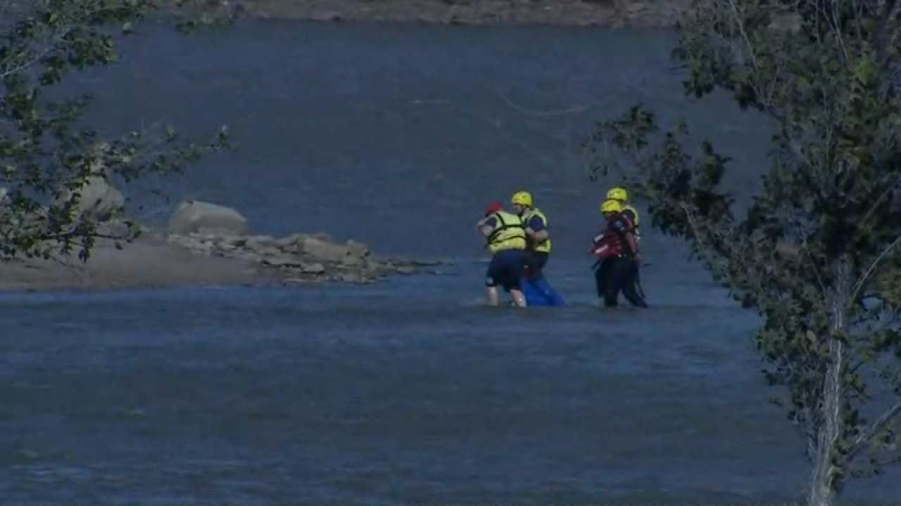 Man Rescued After Jumping Or Falling Off Bridge Into Arkansas River