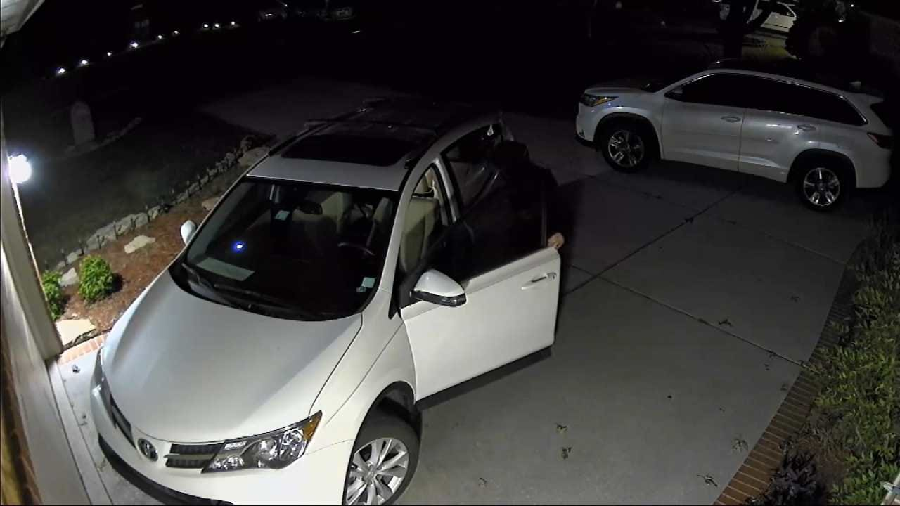 Tulsa SUV Burglary Caught On Video