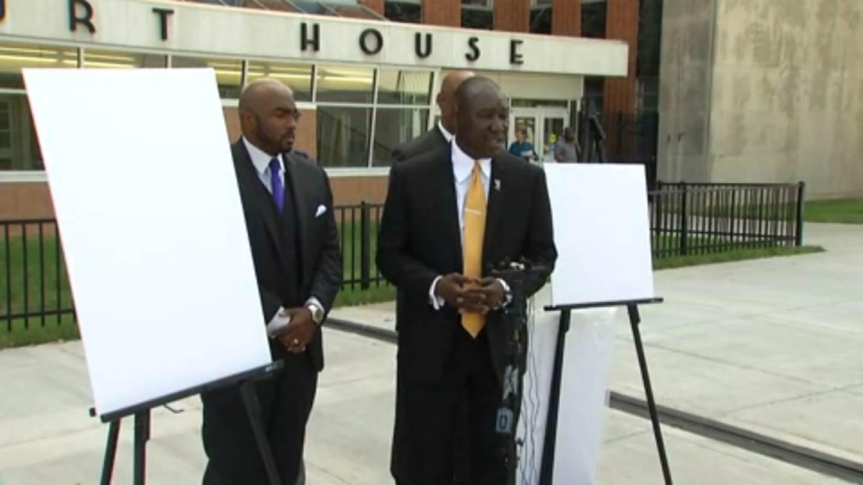 Crutcher Family Attorneys Speak To Media At Tulsa Courthouse Plaza