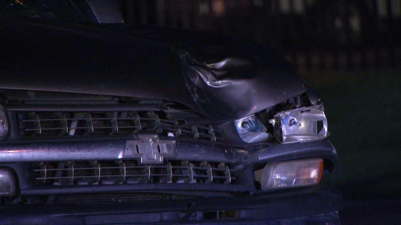 Man Struck Crossing Tulsa Street