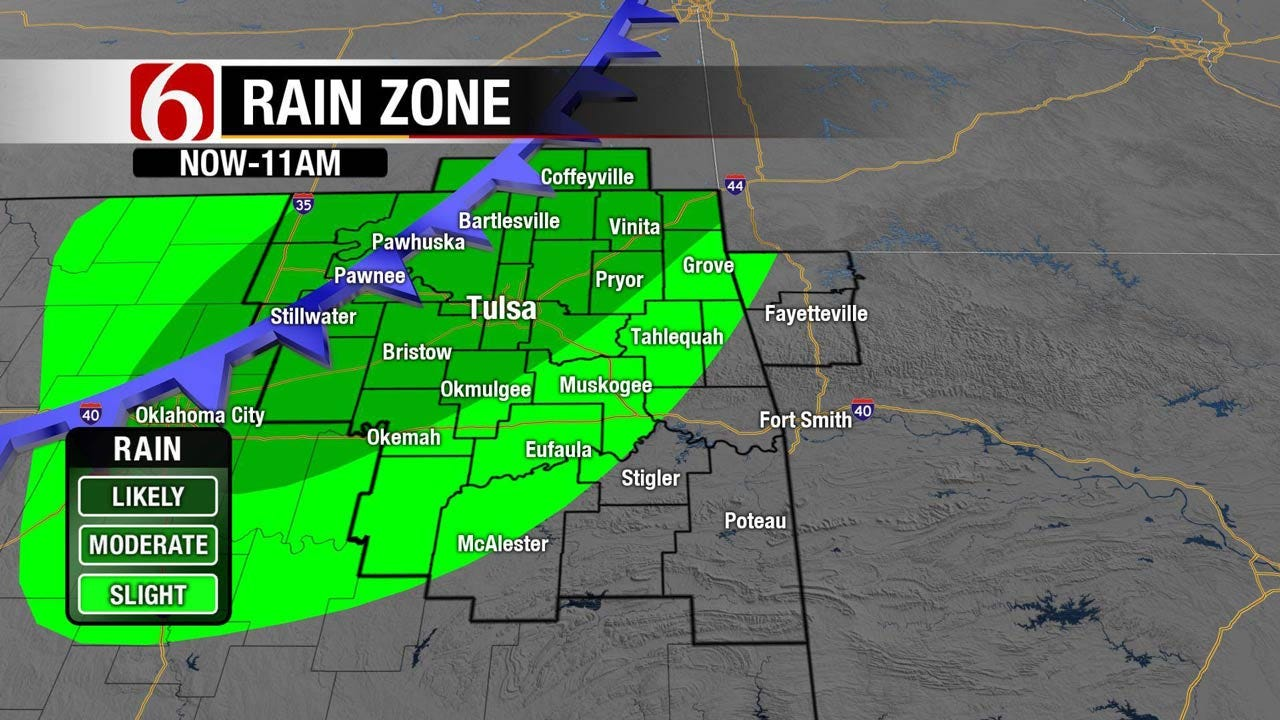 Flooding Possible As Rain Moves Into Northeast Oklahoma
