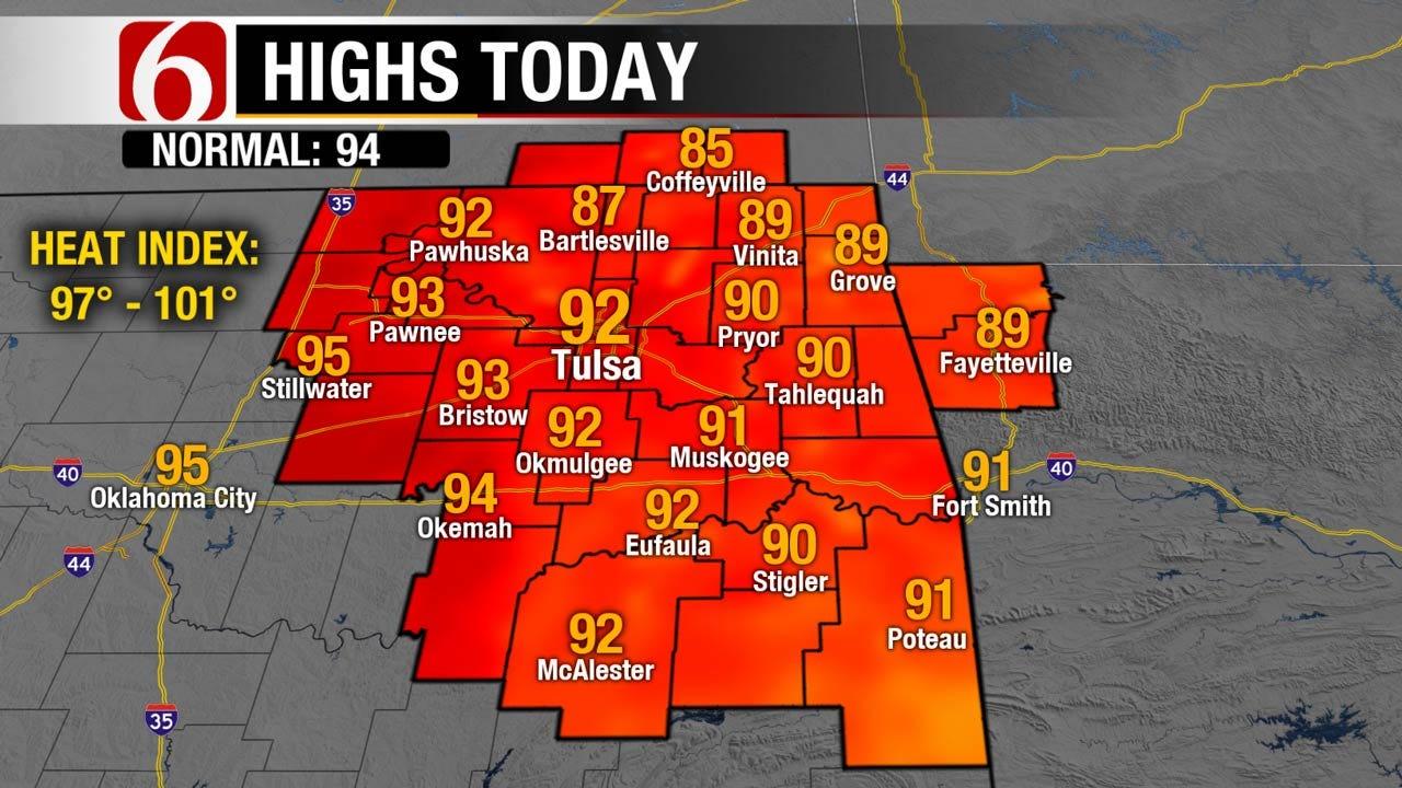 Warm, Muggy With Chance Of Rain Across Eastern Oklahoma