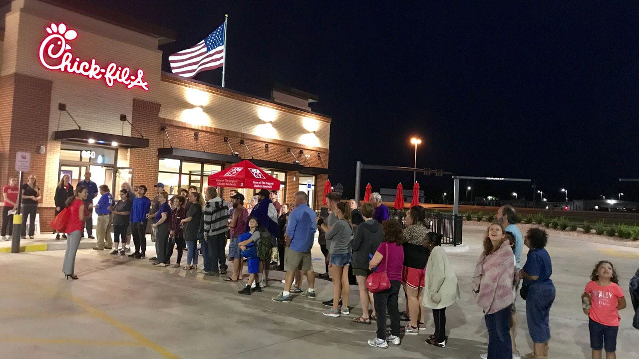 Claremore Chick-fil-a Fans Camp Out, Help Charity