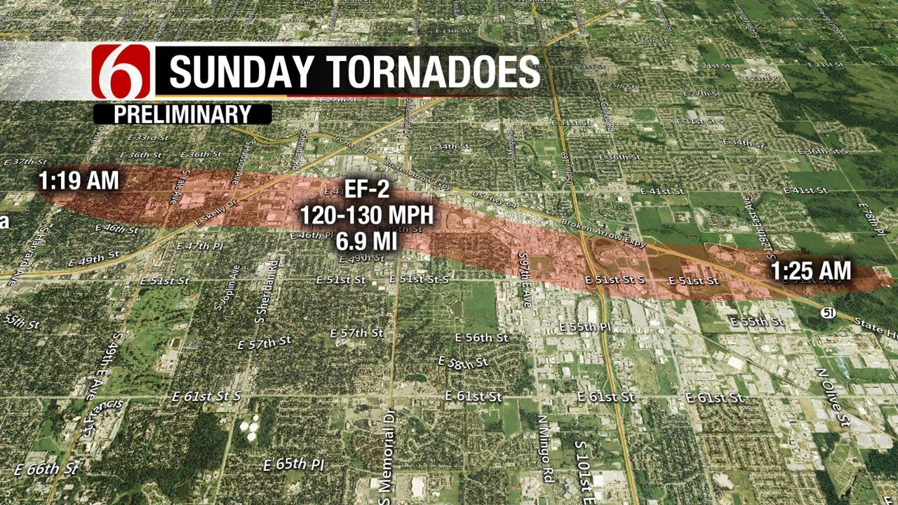 Three Tornadoes Struck Green Country Early Sunday