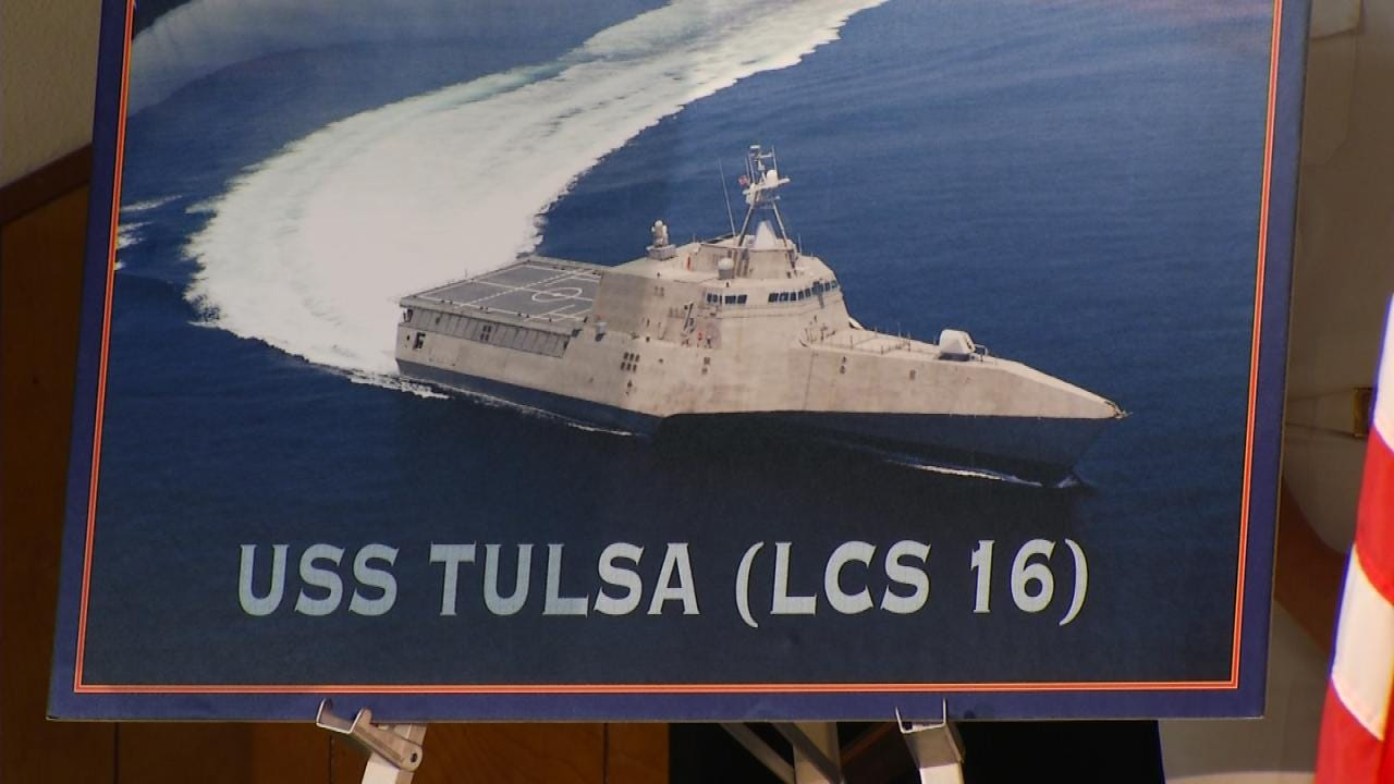 Several Tulsans To Attend Christening Of USS Tulsa