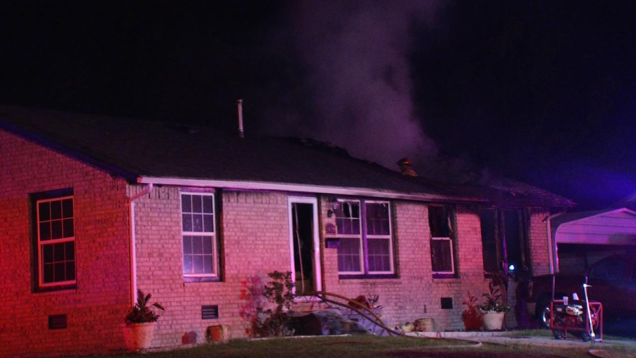 No One Found Inside A Burning Tulsa Home Overnight
