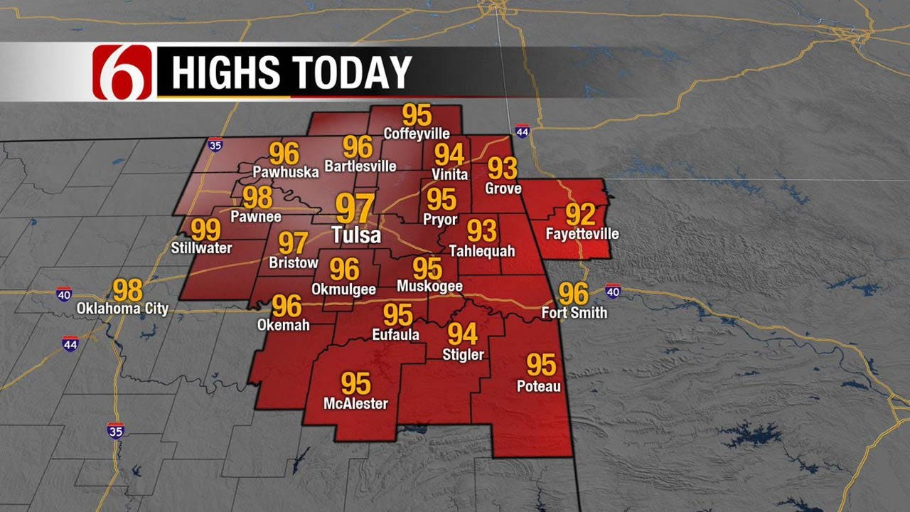 Heat Advisory Issued For Eastern Oklahoma