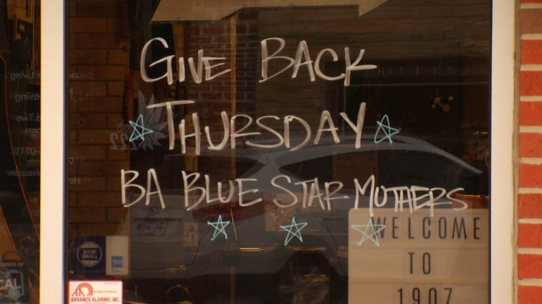 BA Merchants Help Blue Star Mothers As Part Of 'Give Back Thursday'