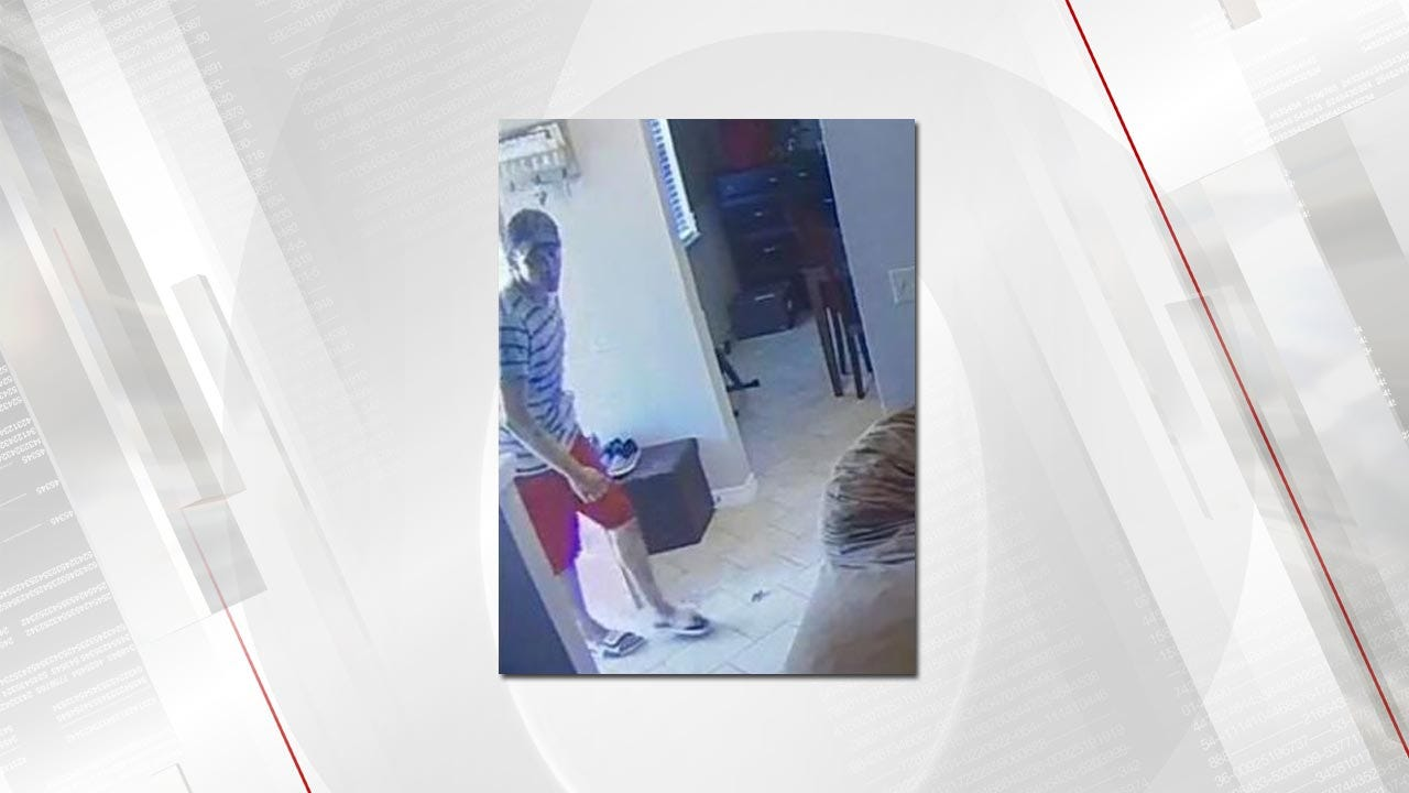 Tulsa Couple Hopes To Identify Man Who Broke Into Home