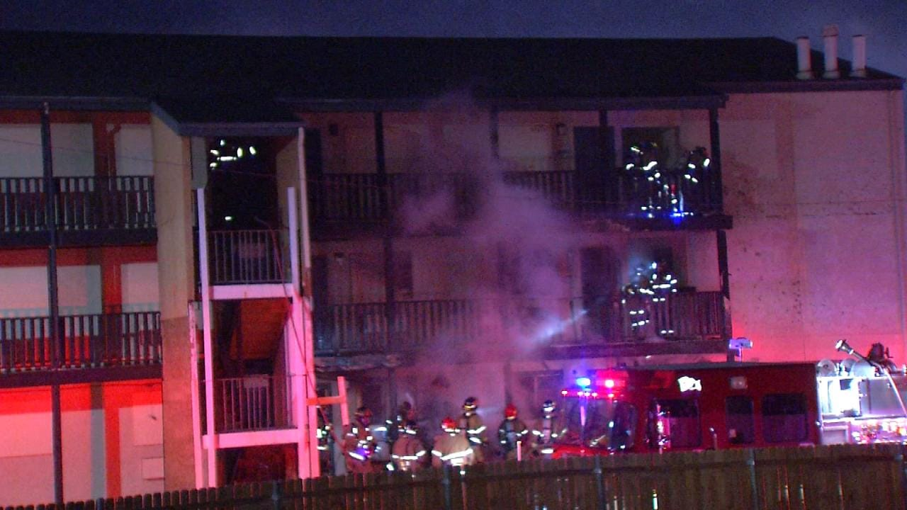 Partly Boarded Up Tulsa Motel Damaged By Fire