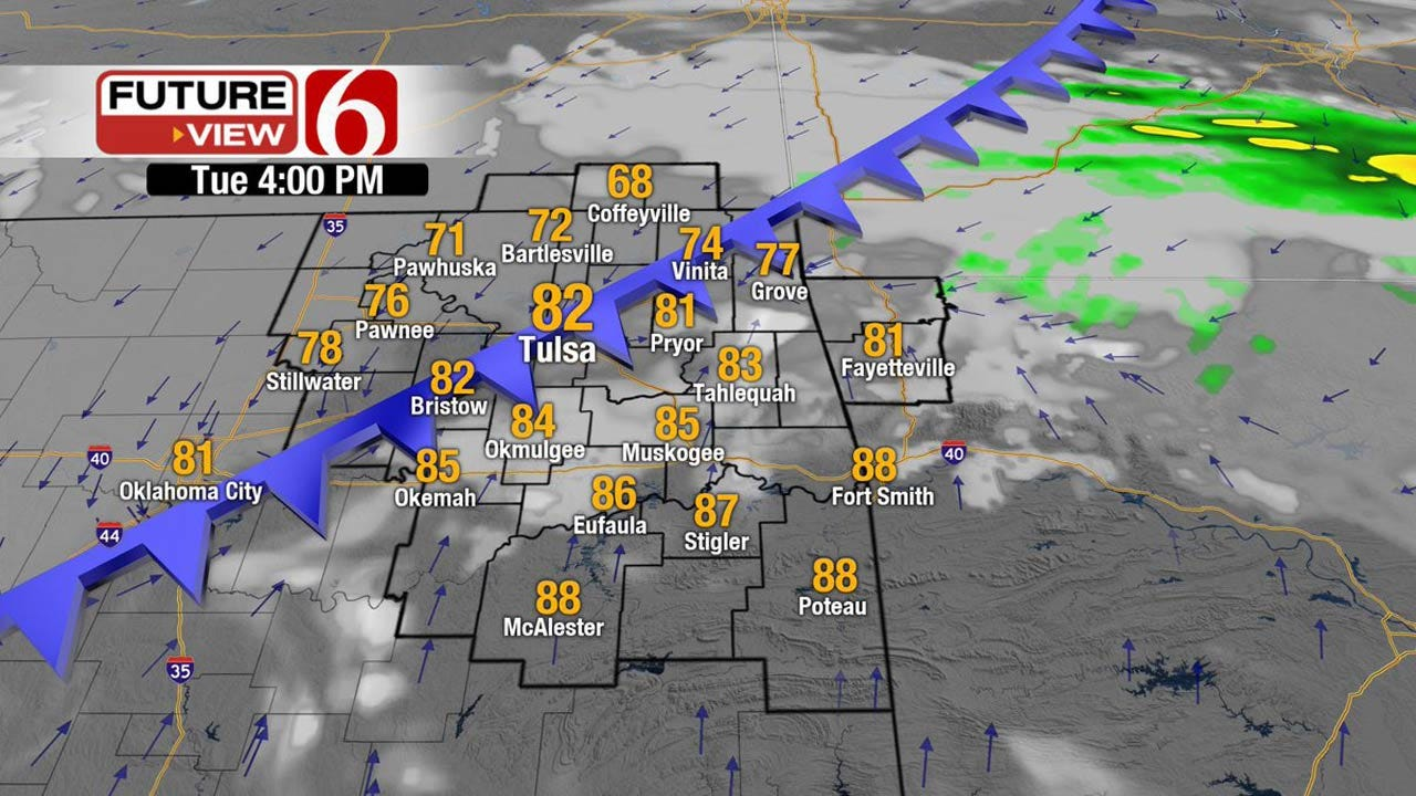Front Brings Showers, Cooler Temps To Eastern Oklahoma