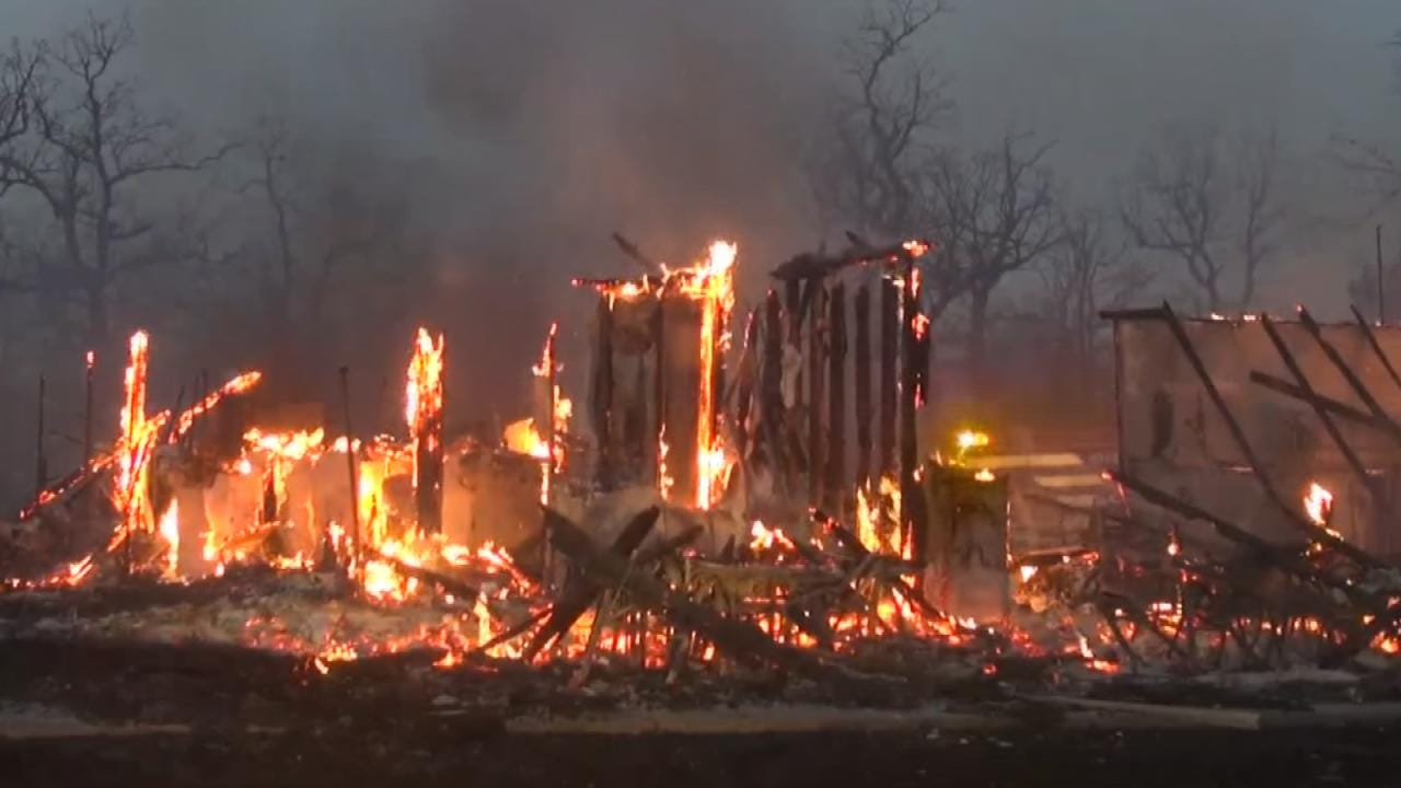 Wildfire Destroys Homes, Injures Three In Pittsburg County