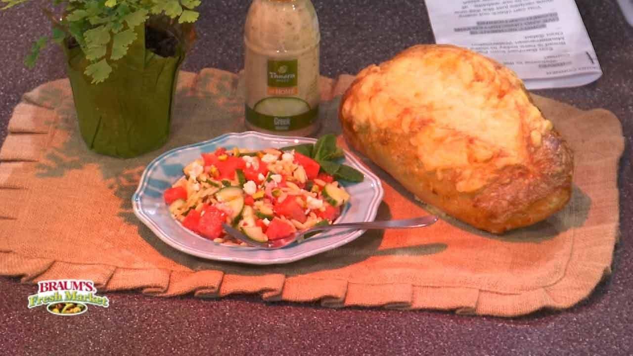 Mediterranean Watermelon Orzo Salad