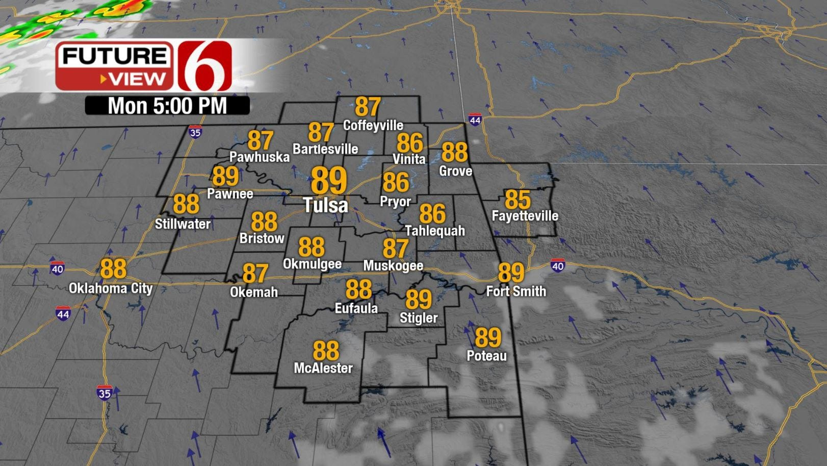 Warm, Breezy Monday Before Storms Later In The Week