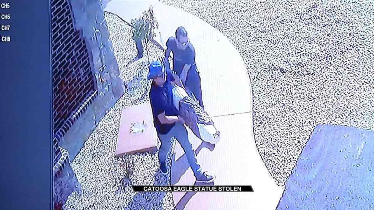 Catoosa Family's Stolen Eagle Statue Returned On Memorial Day