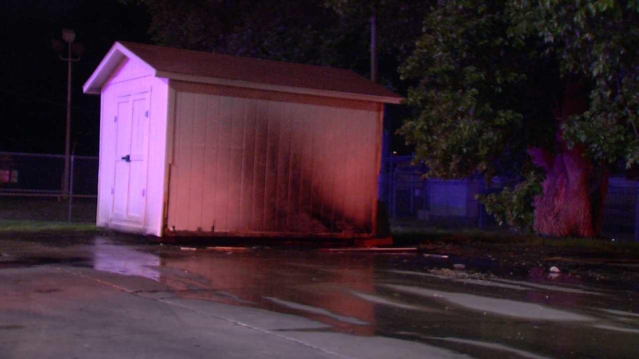 Tulsa Restaurant's Storage Shed Damaged By Arsonist