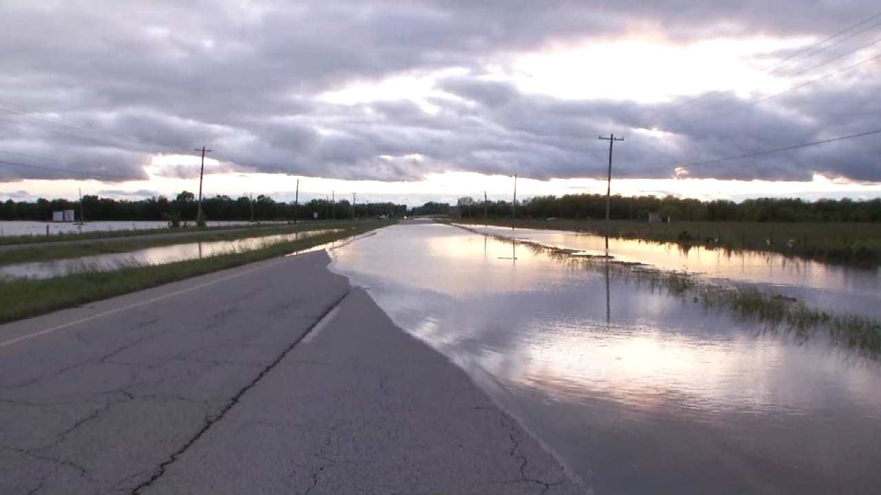 Lanes Of Highway 20 Near Skiatook Reopened After Water Recedes