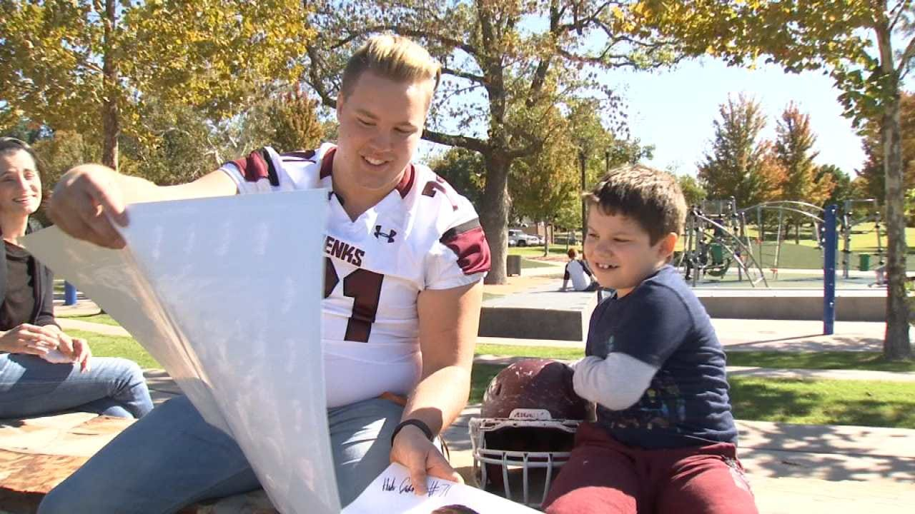 Jenks Football Player's Act Of Kindness Leaves Lasting Impact On Young Fan With Autism