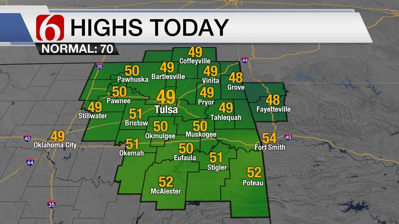 Windy And Chilly Day Across Eastern Oklahoma