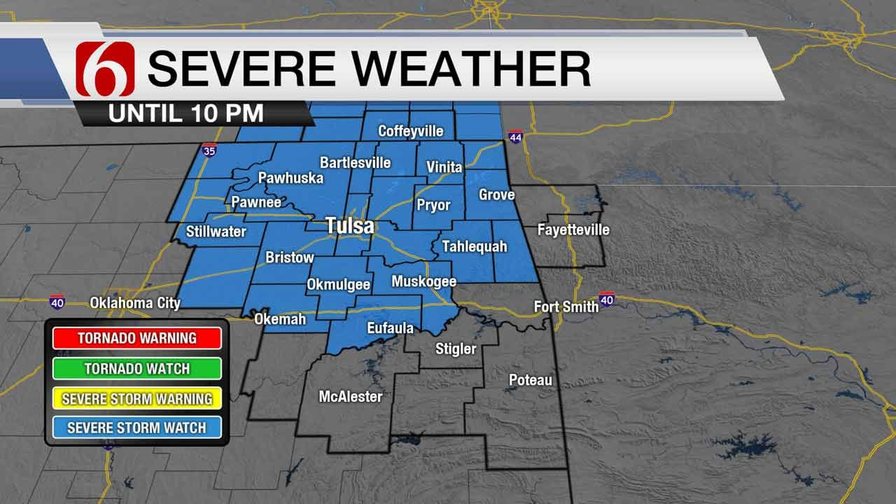 Severe Thunderstorm Watch In Effect For Green Country