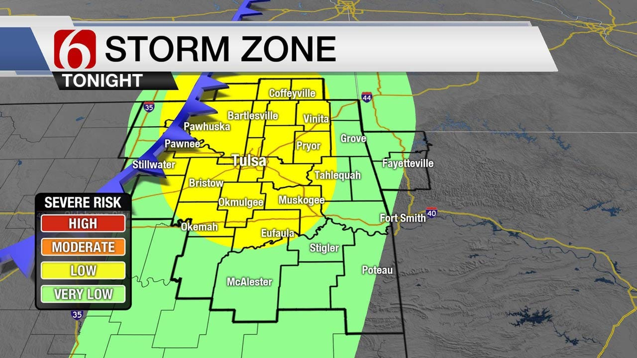 Severe Weather Possible Across Eastern Oklahoma