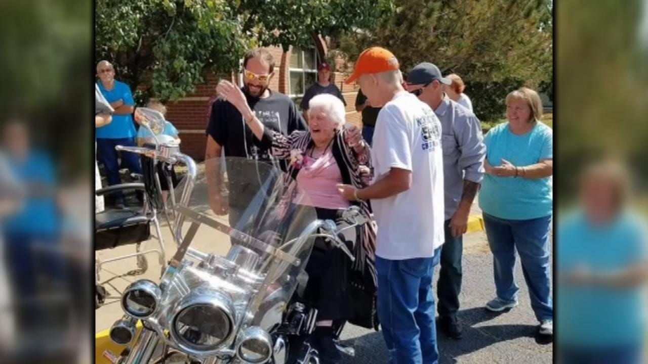 Oklahoma Woman Celebrates 100th Birthday By Riding Motorcycle