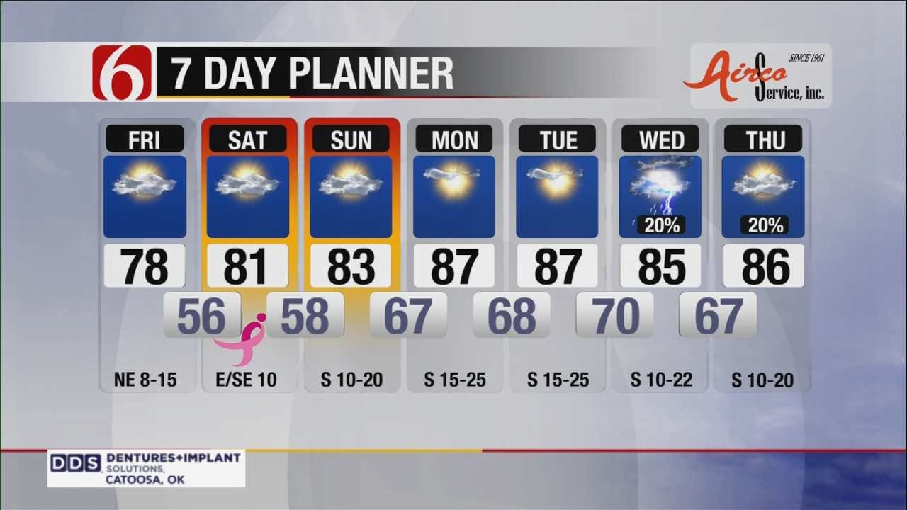 Pleasant Day Expected Across Eastern Oklahoma