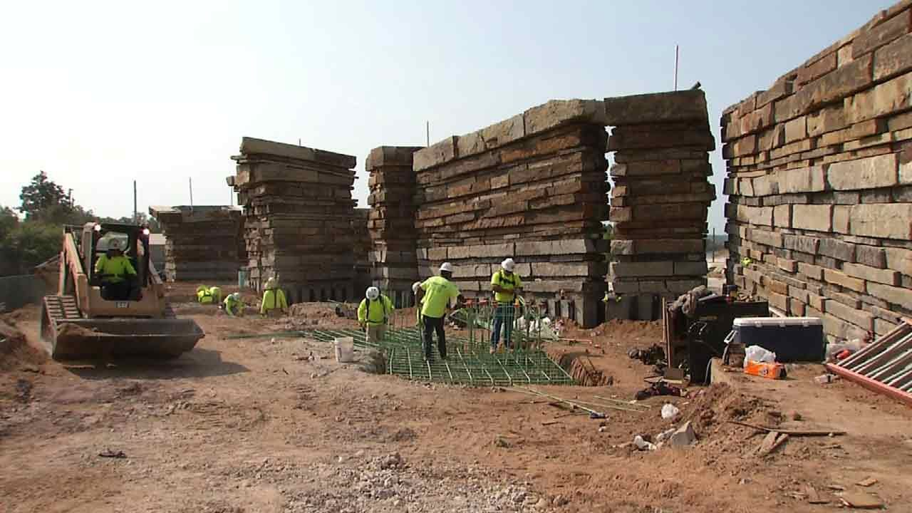 Progress Being Made On Entrance Way Into Tulsa's Gathering Place