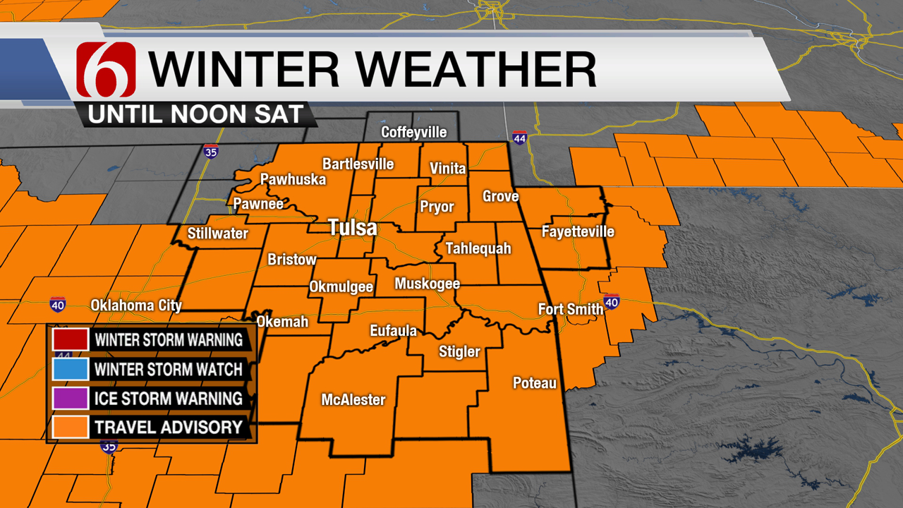 Bundle Up! Cold And Wintry Precipitation This Weekend In Green Country