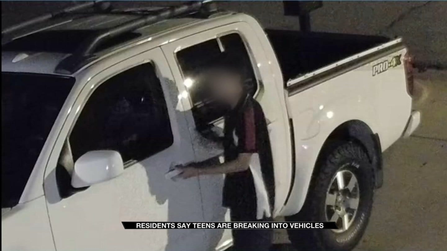 Car Break-Ins Caught On Camera In Tulsa Neighborhood