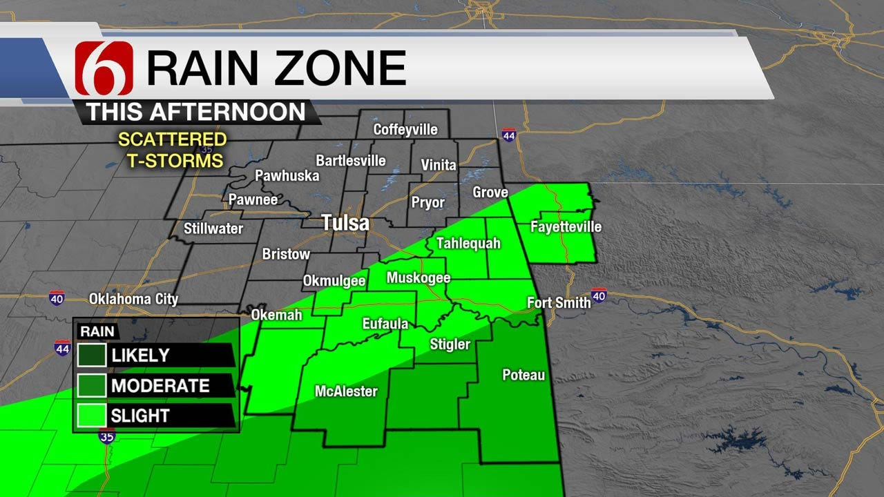 Thunderstorms Moving Out Of Eastern Oklahoma