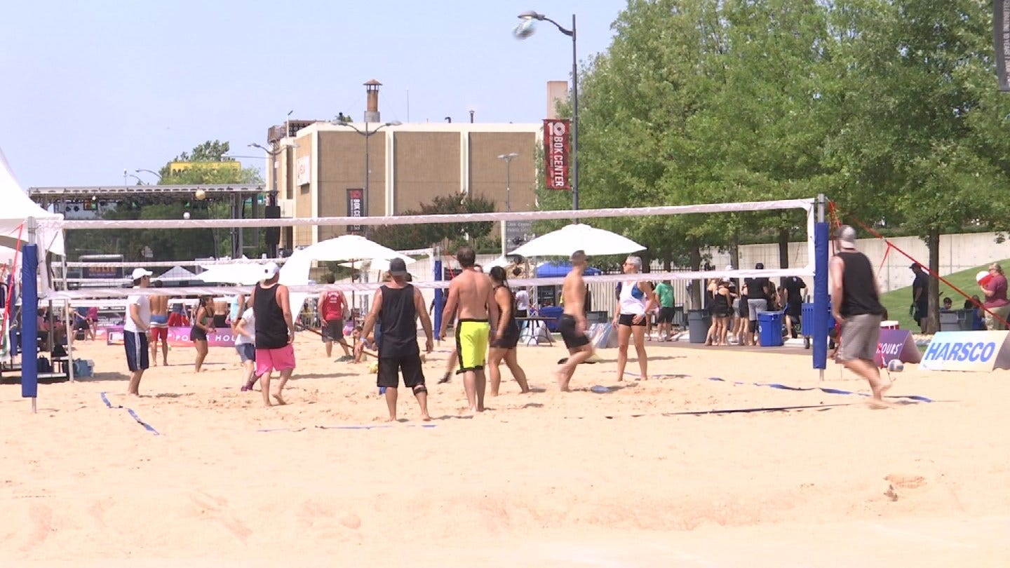 Tulsa Street Turned Into Beach For The Weekend