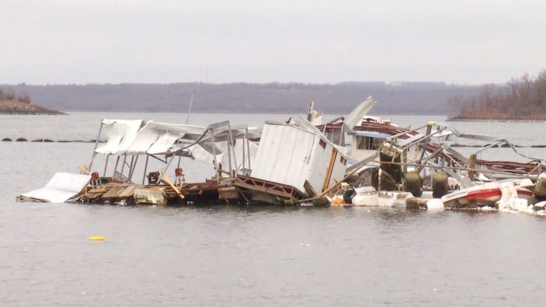 Snake Creek Marina Total Loss After Tornado Rips Through Area