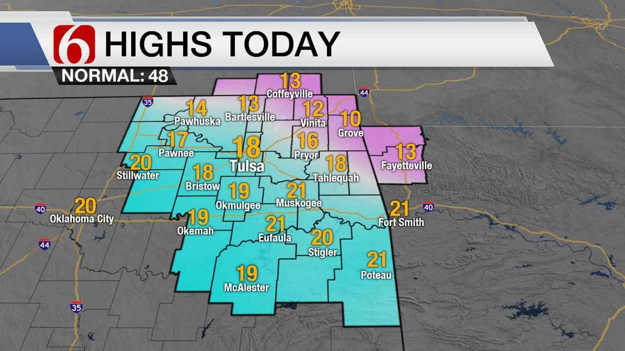 Bitterly Cold Temperatures For Eastern OK