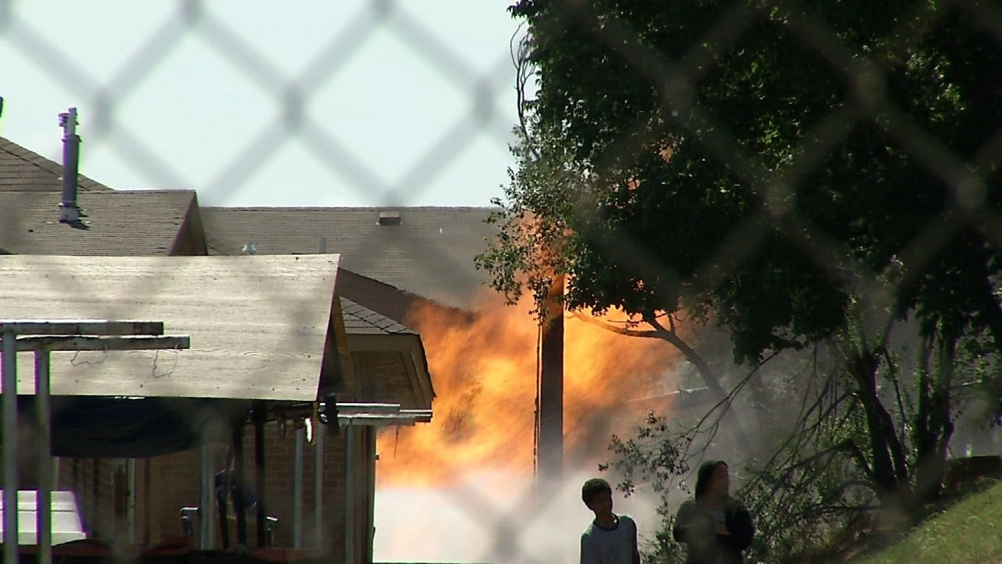 Tulsa Firefighter Suffers 'Significant' Burns After Natural Gas Line Explosion