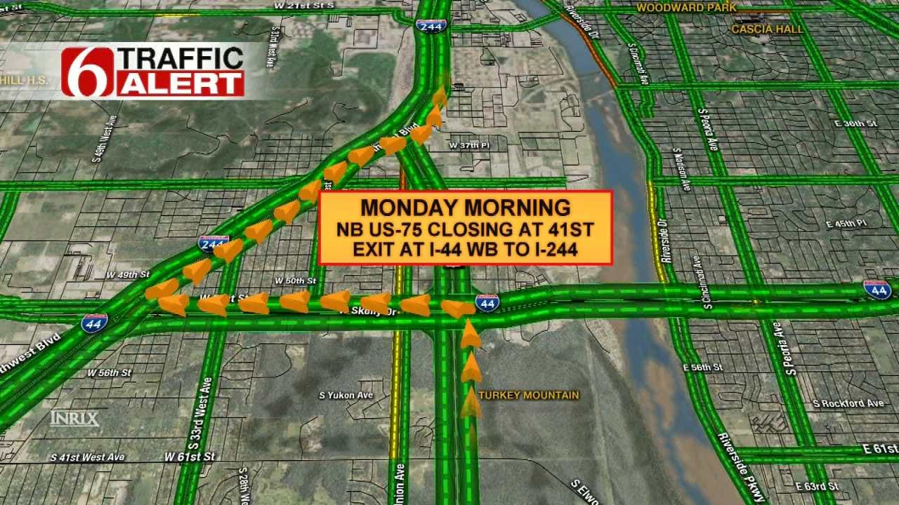 Part Of Northbound Highway 75 In Tulsa To Close For Construction