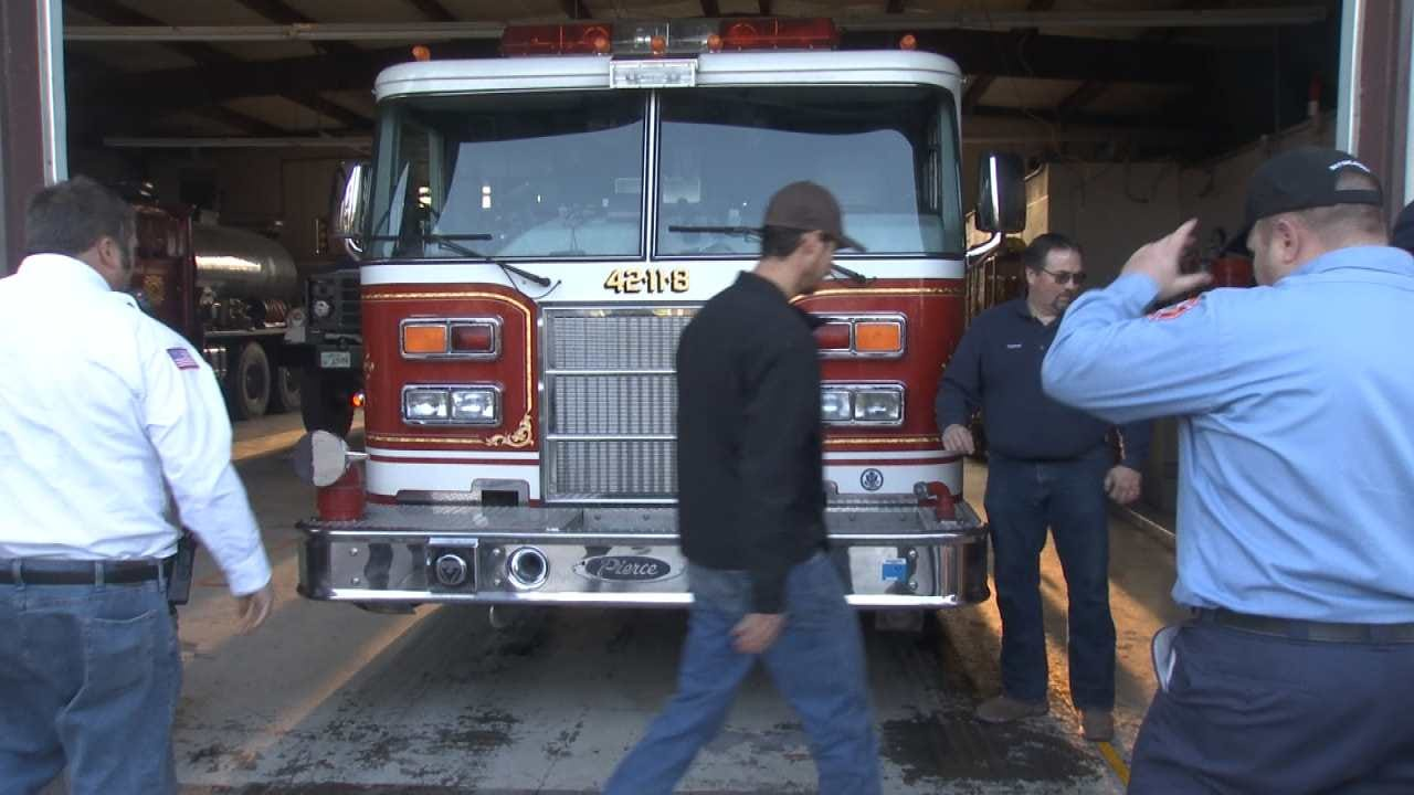 Mounds Fire Department Welcomes New Truck With An Old Tradition